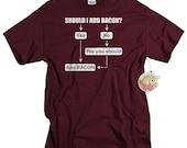 Bacon t shirt mens funny bacon lover shirt geekery tshirt bacon birthday gift for boyfriend