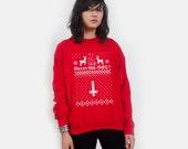 Merry 666-Mas Anti-christmas Ugly Sweater UNISEX S M L XL