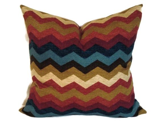 Waverly Zig Zag Decorative Pillow Cover 18x18 20x20 22x22
