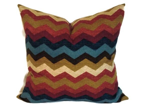 Waverly Decorative Throw Pillows : Waverly Zig Zag Decorative Pillow Cover 18x18 20x20 22x22