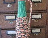 Vintage Plastc Wicker Covered Wine Bottle