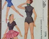 1950's McCall's Leotard pattern - Size 6 - No. 1776