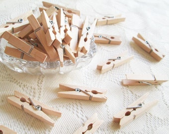 Wooden Clothespins Unfinished Wood Clothespin 50pcs, 45 mm , for next handcraft project, party, decoration,wedding, party, wedding favor