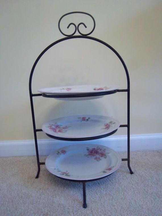 White Wrought Iron Cake Stand