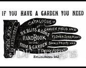 Instant Digital Download, Vintage Victorian Era Graphic, Hand Seed Catalog Ad Advertisement Antique Print Printable Image Steampunk