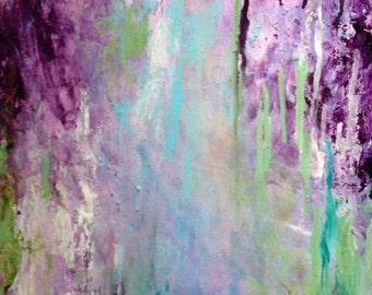 Purple Wisteria Abstraction- Modern Art