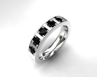 070ct black diamond wedding ring white gold yellow gold rose gold - Purple Diamond Wedding Ring