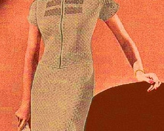 Almost FREE Vintage 1938 Two-Piece Dress with Short Sleeves 142  PDF Digital Crochet Pattern