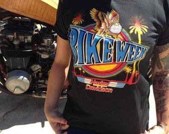 Vintage Harley-Davidson Neon Eagle Shirt