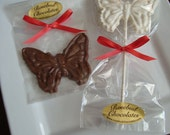 12 Chocolate Butterfly Party Favors Lollipops Candy Sweets Birthday Butterflies