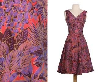 Vintage Silk Sundress 50's Style