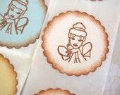Disney Cinderella Stickers (Disney Princess Birthday Party decor/ invitations/ giftwrap)  -Set of 12 Stickers/ Envelope Seals
