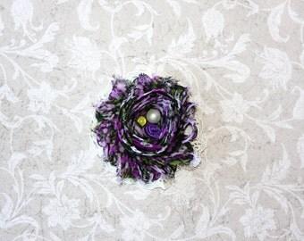 Purple and Black Floral Newborn Headband, Baby Headband,Toddler Hair Clip,Girls Hair Clip, Teen Hair Clip, Adult Hair Clip, Photo Prop!