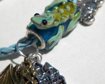 Bracelet blue tone - Kiss my frog and I become a princess