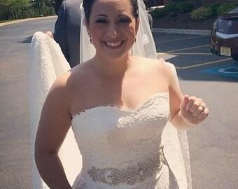 Crystal Bridal belt, Swarovski Crystal Bridal Sash Belt, Rhinestone Bridal Belt Sash, Beaded Bridal Sash Belt