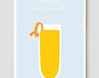 "Mimosa Art Print / Poster - 11"" x 17"""