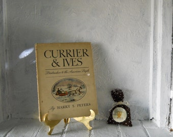 Hardcover 1942 Currier & Ives Book. Print-makers to the American People.