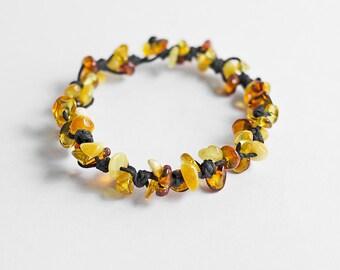 Amber bracelet, multicolor amber bracelet, amber jewelry