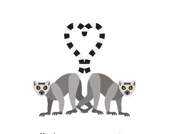Lemurs (4x4 Card)