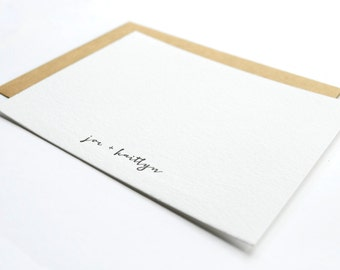 Customized Name Letterpress Notecards