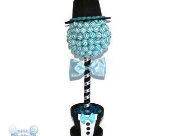 Lollipop Groom Topiary, Candy Groom Topiary, Lollipop Centerpiece, Wedding Centerpiece, Bridal Shower, Centerpiece, Wedding, Candy Buffet