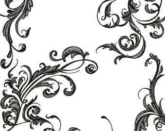 Paisley Pieces Temporary Tattoo Pack - Rub On Pack of Designs