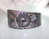 Black Steampunk Bracelet~ Polymer Clay Cuff Bracelet~ Black Steampunk Cuff Bracelet~ Steampunk Jewelry~ Steampunk Bracelet~ Black Bracelet