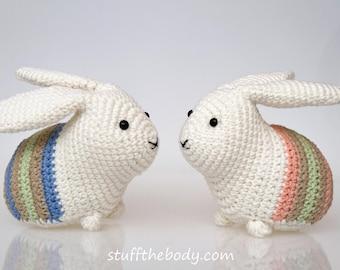 Easter Bunny Amigurumi Pattern, Easter Crochet Pattern, rabbit crochet, home decor, easter decoration pattern crochet art, easy crochet,
