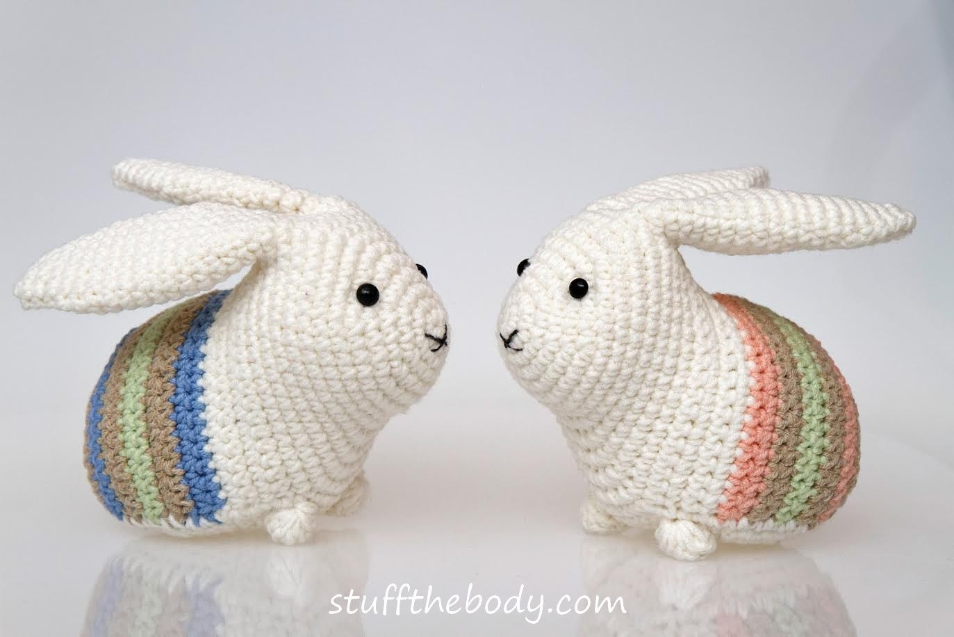 Amigurumi To Go Easter Egg Bunny : Easter Bunny Amigurumi Pattern Easter Crochet Pattern rabbit