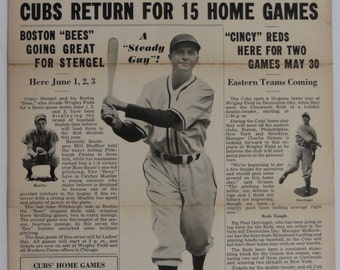 May 30, 1938 Chicago Cubs News Vol 3 No 4 Wrigley Field - Free Shipping