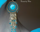 "Bead eambroidery earrings ""ASMARA"""