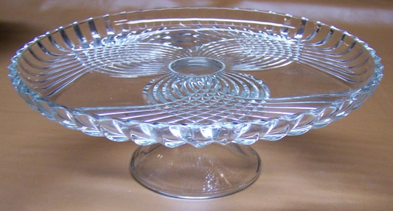 Art Deco Glass Cake Stand : Art Deco Cake Stand Colony Glass Royal Ornate