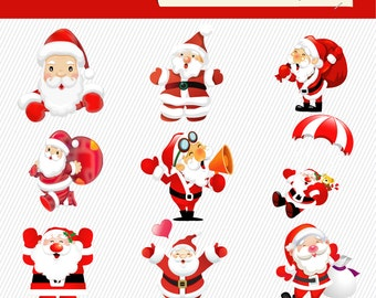 Santa clause clipart christmas clipart santa claus illustration