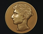 Julius Caesar Bronze reproduction medallion - relief sculpture - decorative art