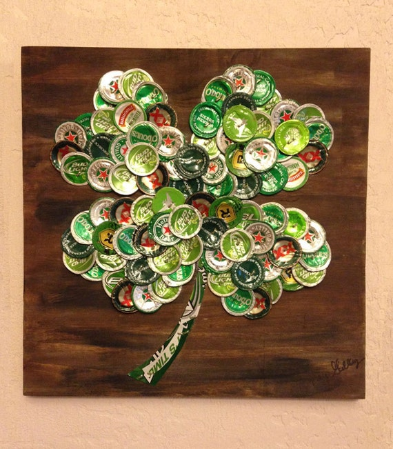 Items similar to Four Leaf Clover Beer Cap
