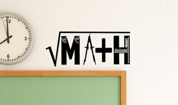 Math Classroom Wall Decorations ~ Math classroom decal class decor