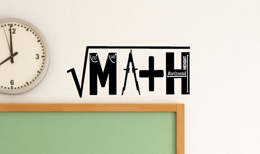 Classroom Decor Math : Math classroom decal class decor