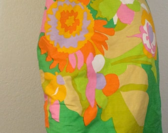 FREE SHIPPING1950's Amazing Floral Shift Dress