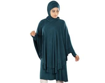 Traditional Jersey Tunic, Islamic Designer Ladies Kurtis, Muslim Stylish Blouse Dresses, Women Trendy Tops KRF-100