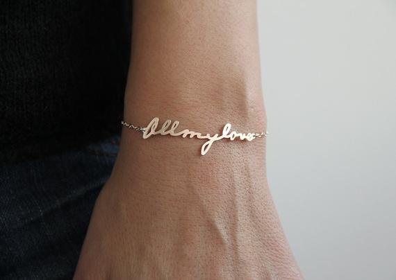 Signature Bracelet Handwriting Bracelet Personalized By