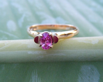 PINK SAPPHIRE ring, pink sapphire, pink ruby ring, sapphire ring, sapphire pink, pink engagement, sapphire engagement, gift for her