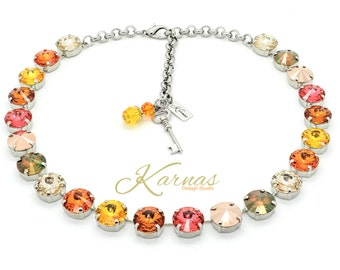 CHANGING SEASONS 12mm Crystal Rivoli Choker Made With Swarovski Elements *Pick Your Metal *Karnas Design Studio™ *Free Shipping
