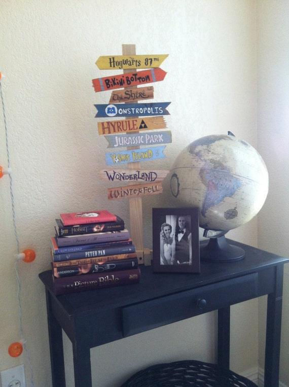 Items similar to create your own fandom directional sign for Disney office decor