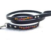 Leather Leash, 4ft, 5ft, or 6ft Leather Leash, Leather dog leash, Plain leather leash, Dog lead, Dog leash, Colorful leather leash