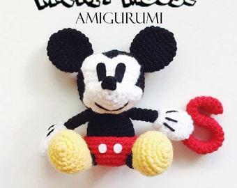 Patron Amigurumi Baby Minnie : Mickey & Minnie Mouse Amigurumi Crochet Pattern PDF