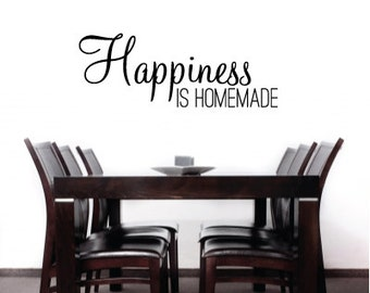 Happiness is Homemade Home Decor Vinyl Decal Quote