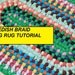 DIY Rag Rug Pattern, PDF Tutorial Swedish Braid Rag Rug, How to Make a No Sew Braided Rag Rug, How to Make a Rag Rug, PDF Pattern Tutorial