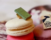 Lolita mini book brooch