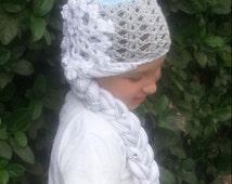 Queen Elsa Wig -  Frozen Bling and Sparkle Crochet Hat