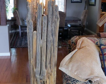 Large standing Lamp made from a Saguaro Cactus Skeleton